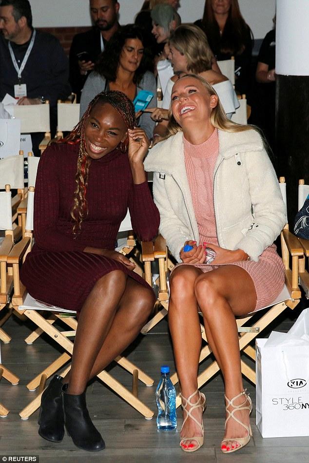 Venus Williams and Carolina Woznacki at the NYFW