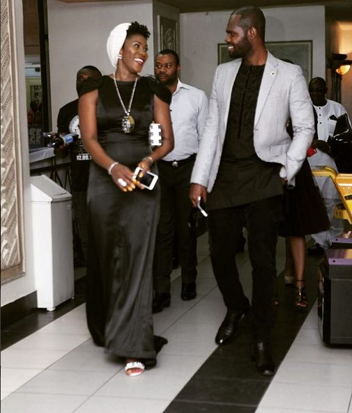 Stephanie Linus and Her Husband looking Breathtaking as they arrived at the Silvertown Movie Premiere