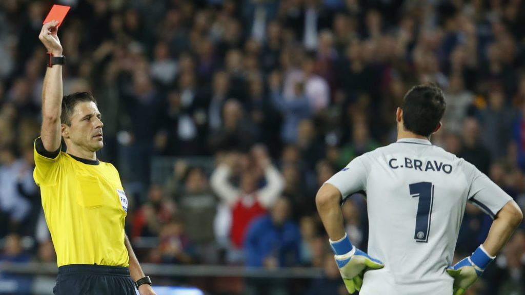 Barcelona FC Thrash Manchester City 4-0, as bravo gets a Red Card