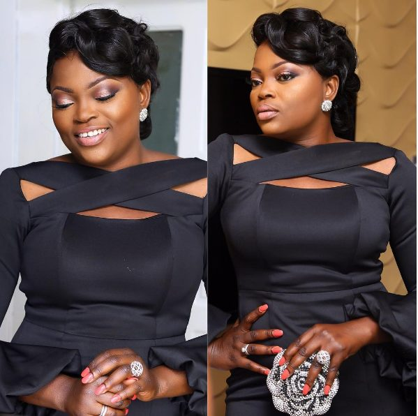 Funke Akindele Sexy AF in black Dress