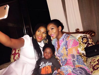 Genevieve Nnaji Celebrates with Stephanie Linus as her son, Maxwell turned One Year old