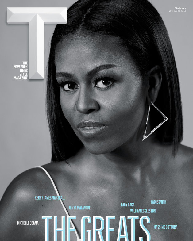 """Michelle Obama graces the Cover of New York Times T Magazine """"Greats"""" issue"""