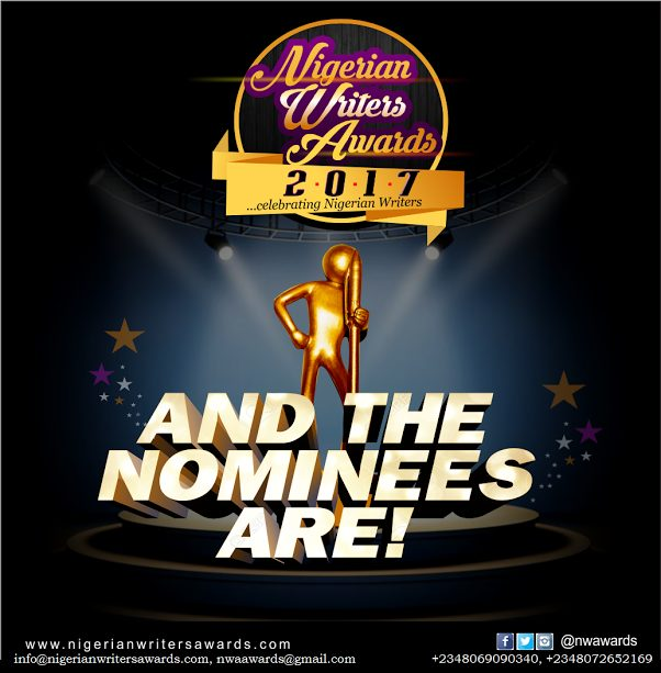 Nigerian Writers' Awards 2017-Full Nomination List