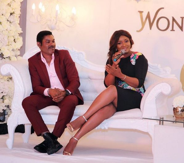 Omotola and hubby Captain Ekehinde step out in style as they attend BN Wonderland event