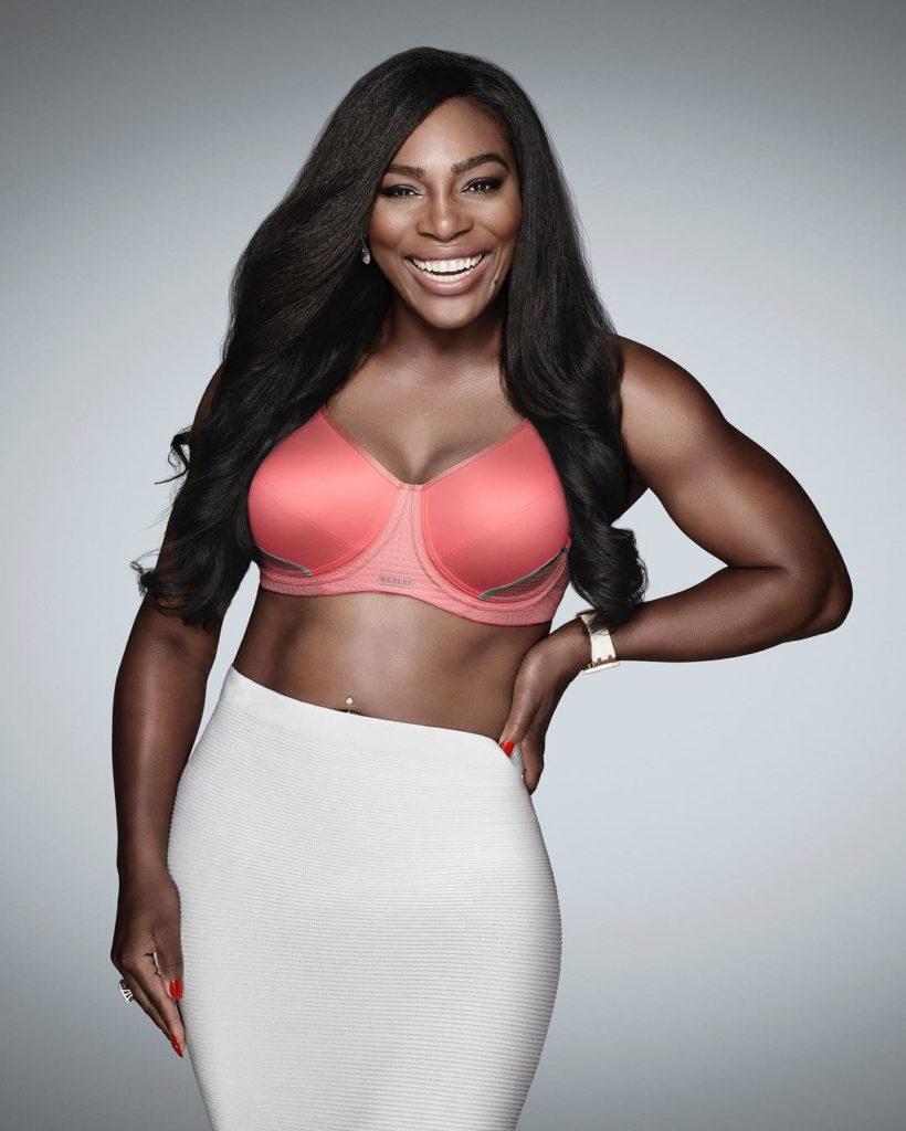 Serena Williams Puts her toned and Curvaceous Body on Display in New Berlei Bra Photo-shoot