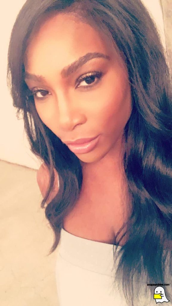 Serena Williams shares Photo of Her Makeup artist working on her face