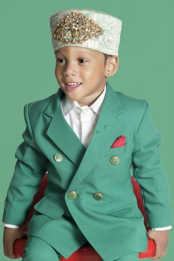 Toyin Lawani's son's  smashing hot in independence day shoot