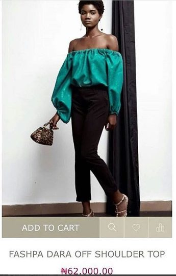 Checkout Fashpa Dara Off Shoulder Top That goes for 62k