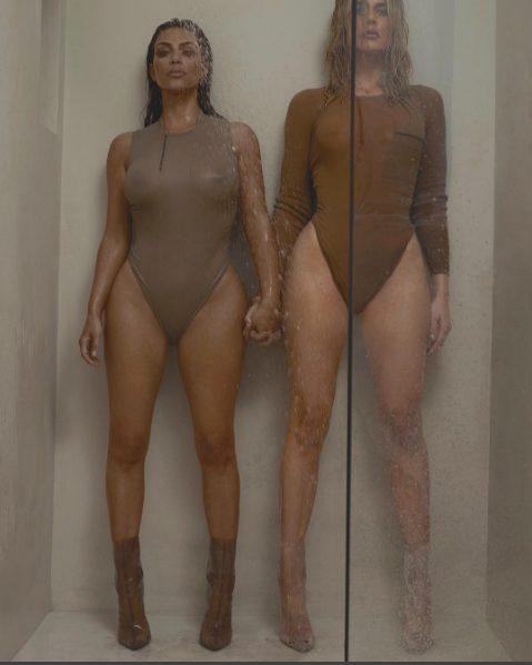 Kim and Khloe Kardashian Puts their Bare Butts on Display in Yeezy Season 3 for 032C Magazine