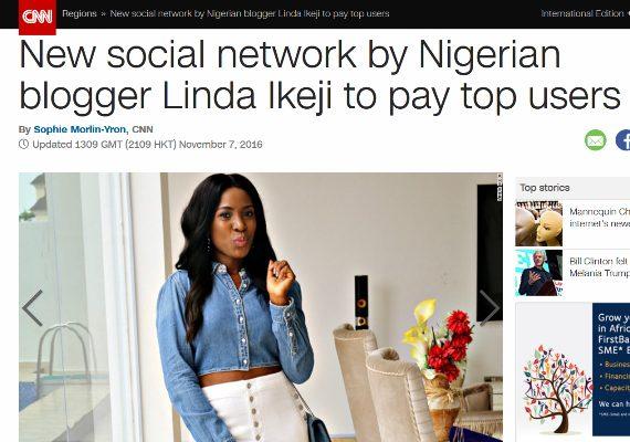 Linda Ikeji Social (LIS) featured on CNN