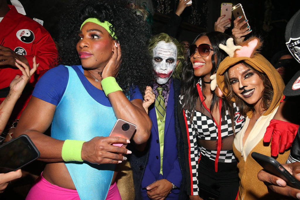 Serena Williams and Lewis Hamilton Gets Flirtatious at Halloween