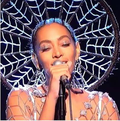 Solange Knowles Spent 40 Hours to get her 'Dream Catcher'  hair style done for her first televised show