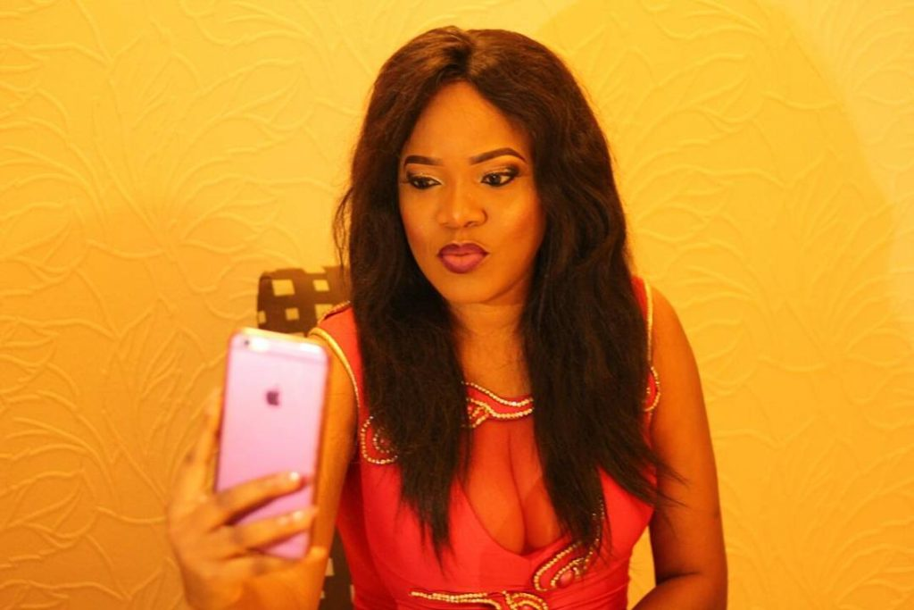 Toyin Aimakhu Puts on Boobs on Display in a Sexy Red Dress at Eloy Awards 2016