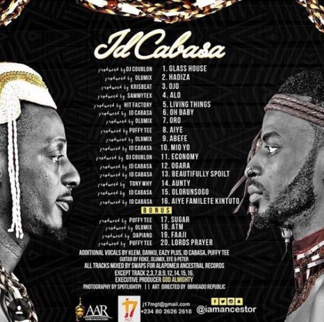 9ice Release 8th studio Album Tracklist, titles Album IDCABASA