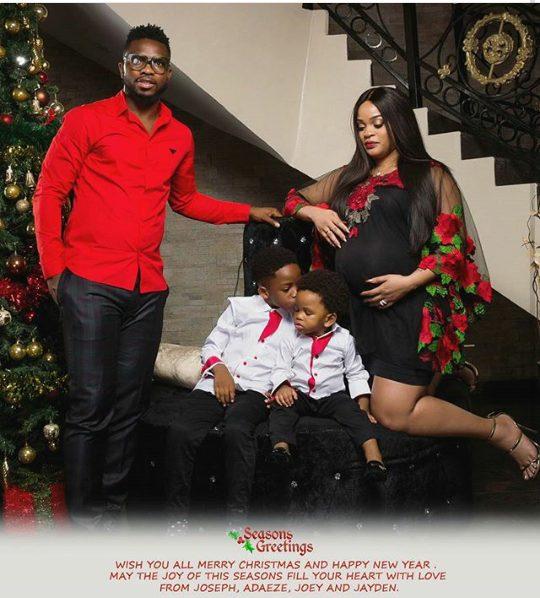 Adaeze Yobo shares Adorable Christmas Card Photo of the Yobos