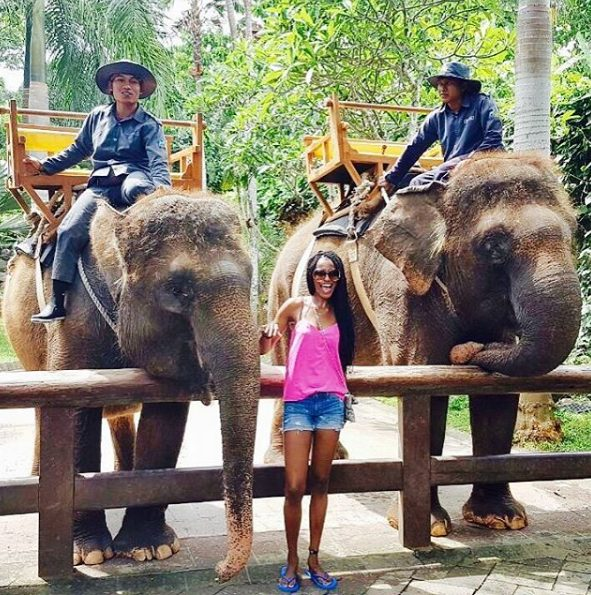 Agbani Darego puts her hot banging bod on Display as she holidays in Bali