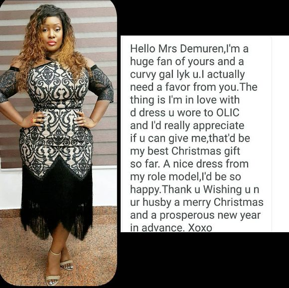 Beat Fm 99.9 OAP Toolz Tells Fan who wants her Dress that she  would Have another one made for her