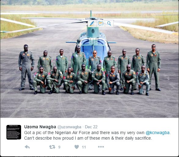 Check out this dope photo of Nigerian Air Force personnel