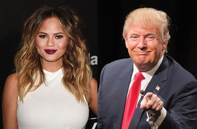 Chrissy Teigen Wades into Donald  Trump's tweets about the inauguration,as his fans attack her