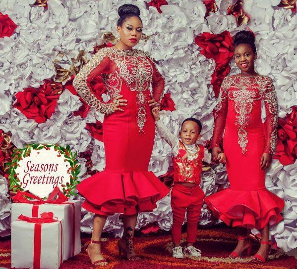 Fashion Designer Toyin Lawani Celebrates Christmas