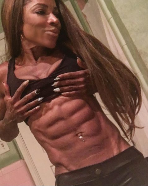 Hollywood actress Aj Johnson,53 year old shows off her 8 packs with inspirational Message on instagram