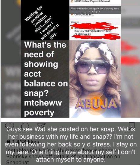 Idris Okuneye aka Bobrisky drags Halima Abubakar on Instagram ,says she 'borrowed sense from a mad woman'