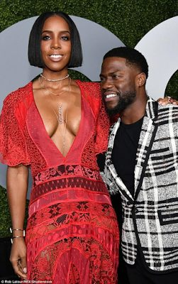Kelly Rowland  and Kelvin Hart at GQ Men Of The Year party