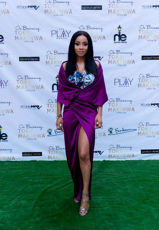 Toke Makinwa reveals the number of fibroid that was removed from her