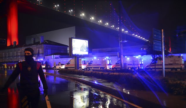 40 wounded,as 35 People were Killed in in Istanbul nightclub attack