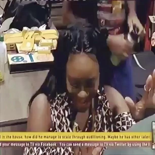 Big Brother Naija housemate Kemen gives Uriel lap dance