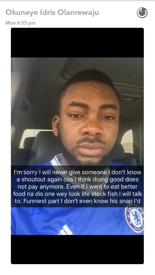 Bobrisky Slams  a snapchat follower for alleging he likes him,calls him stock fish