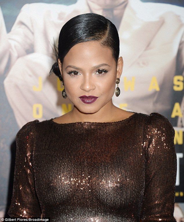 Christina Milian goes braless in dazzling sheer gown as she attend Live By Night Movie Premier in LA