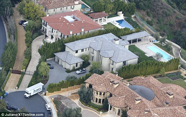 Photos of Moving truck spotted at Bel Air estate of Kim Kardashian and Kanye West in LA