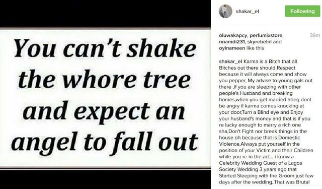 Rapper Shakar El Throw Shades at Tonto Dikeh