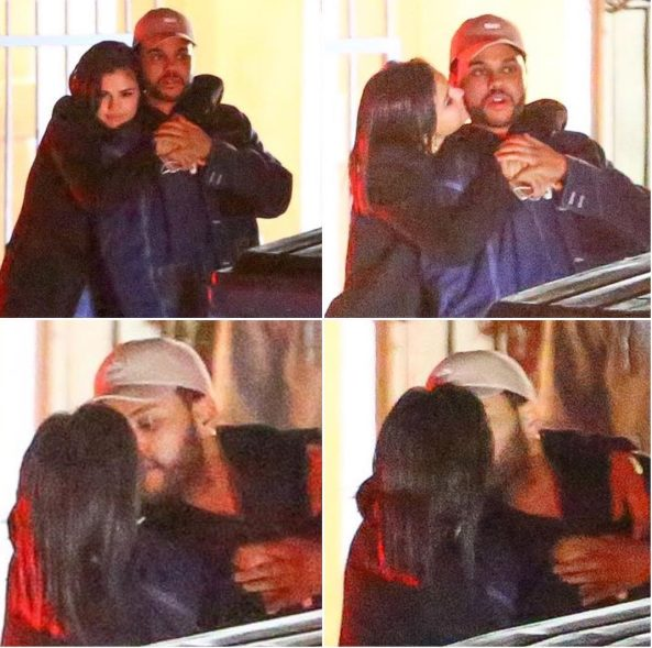 Selena Gomez Kisses The Weeknd on their Romantic Dinner