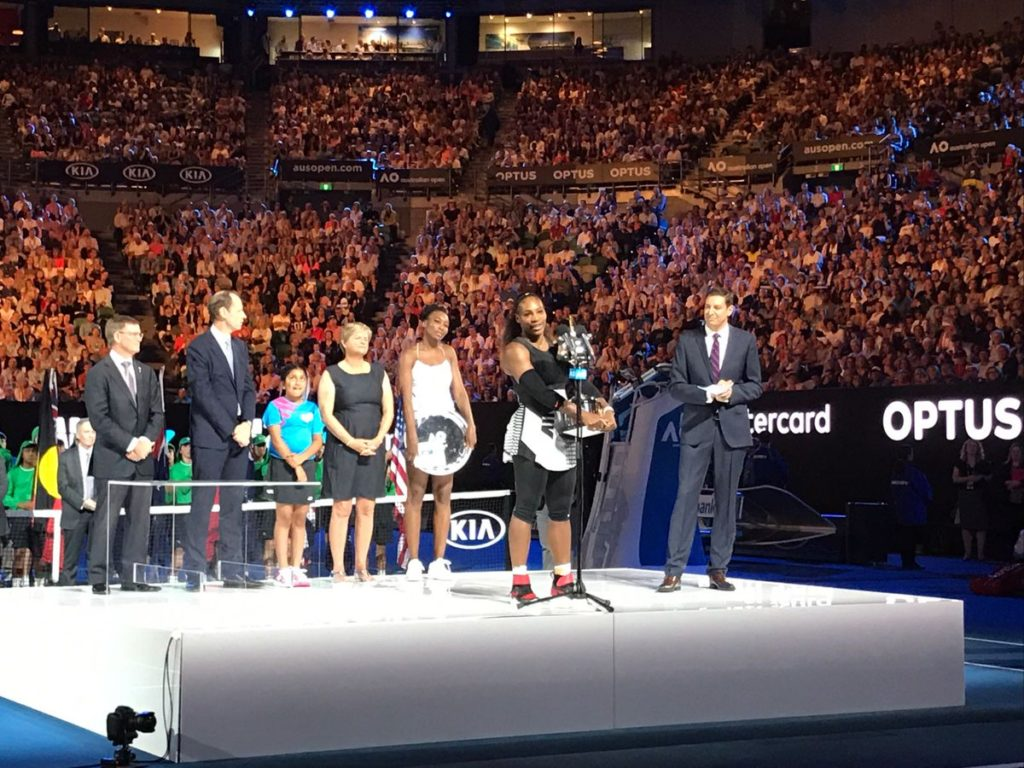 Serena Williams Defeat Venus Williams 6-4, 6-4 to win Australian Open 2017