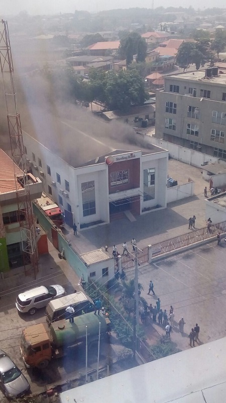 Tragedy Strikes as Sterling Bank Branch in Abeokuta Ravaged by Fire