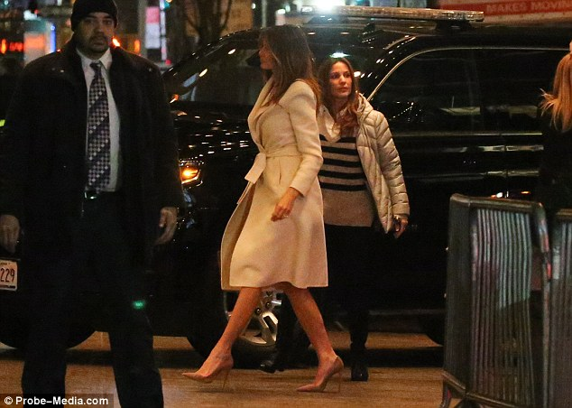 Donald Trump's Wife Melania Trump spotted in NYC with her 10-year-old son, Barron trump