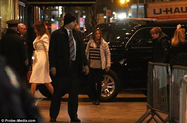 Melania Trump in NYC at the Trump Tower