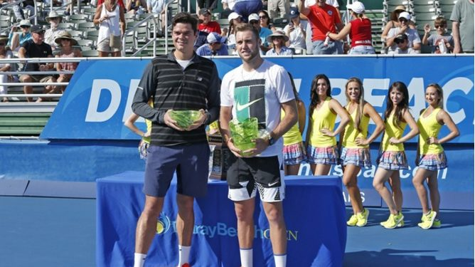 Jack Sock Wins Delray Beach Open, As Injured Milos Raonic Withdraws from the Final
