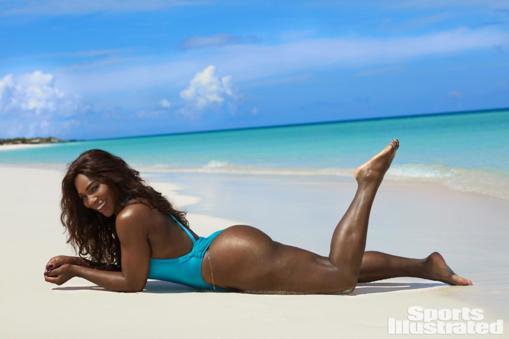 Serena Williams Posing Braless for Sports Illustrated Swimsuit 2017 Magazine Issue