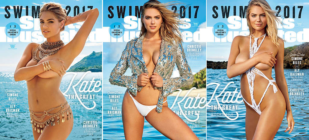 Kate  Upton   Poses Braless for Sports Illustrated Swimsuit 2017 Magazine Issue