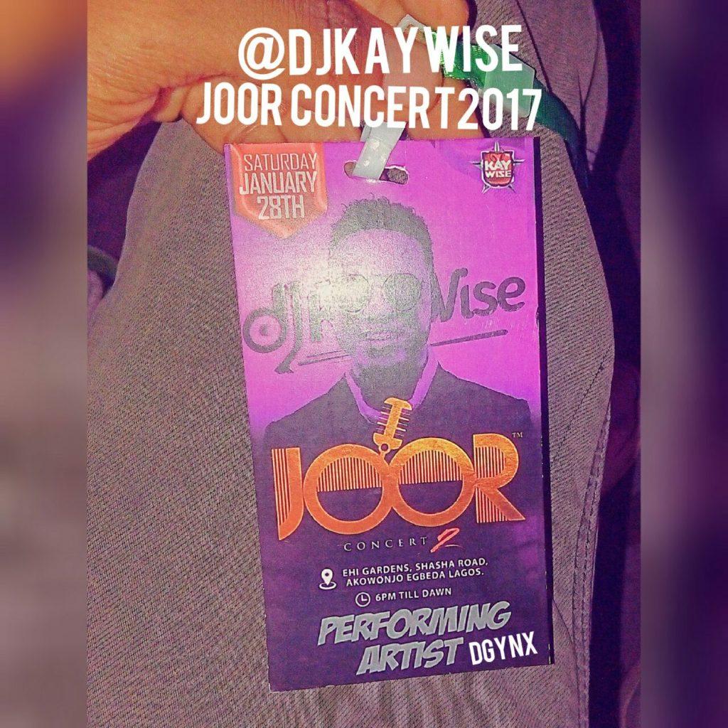DGynx shut down the stage At Dj Kaywise JOOR Concert 2017