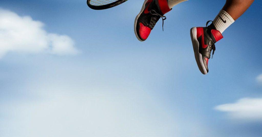 Serena Williams Shows off her New Nike Jordan AJ1 Sneaker