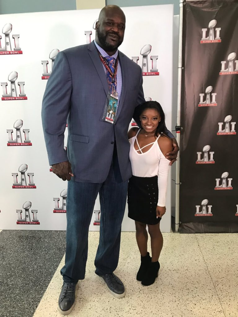 Simone Biles shares Adorable Life Changing Height Difference Photo with Shaquille O'Neal