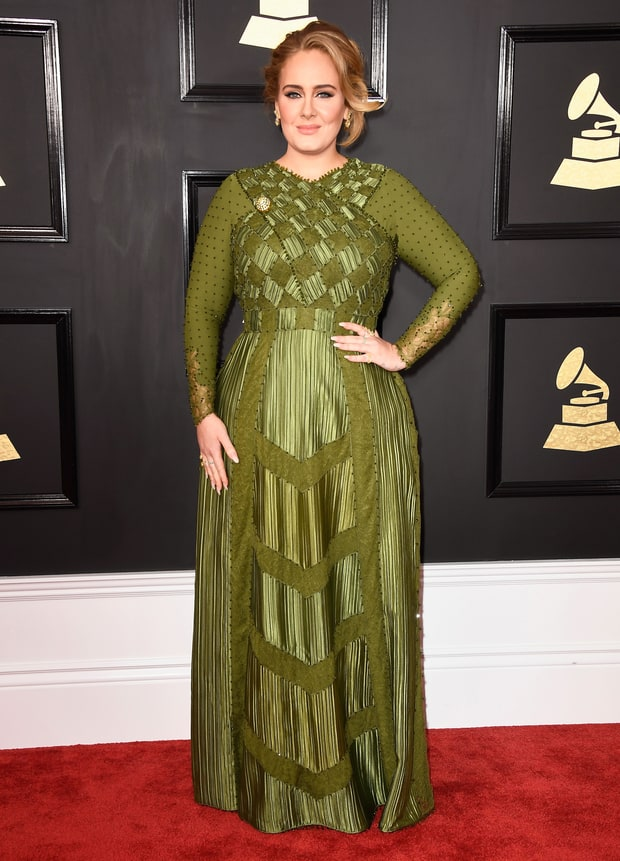 Adele at The Grammy Awards 2017 Red Carpet Photos