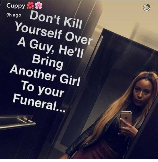 DJ Cuppy warns ladies not to kill their-selves over a Guy