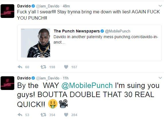 Davido Slams Punch Newspaper, Sues the Nigerian Newspaper