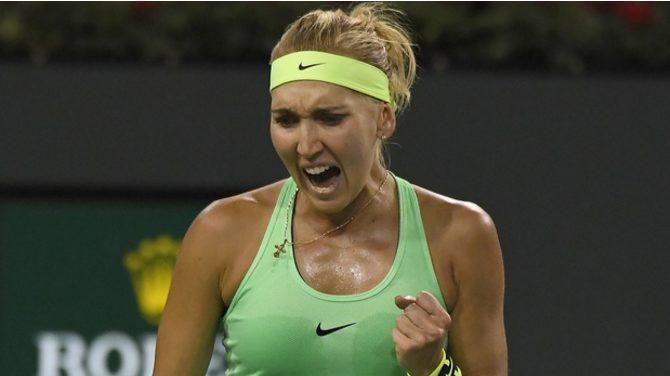 Elena Vesnina withstood Venus Williams' comeback to win 6-2, 4-6, 6-3. (AP)