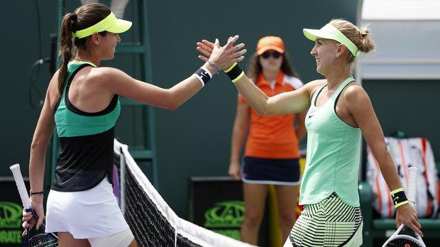 Elena Vesnina dumped out of Miami Open by wild card Ajla Tomljanovic, 3-6, 6-4, 7-5